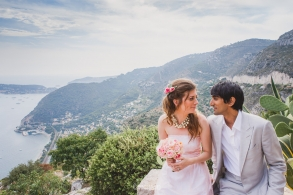 intimate wedding in the south of france - french riviera - chateau de la chevre d'or eze