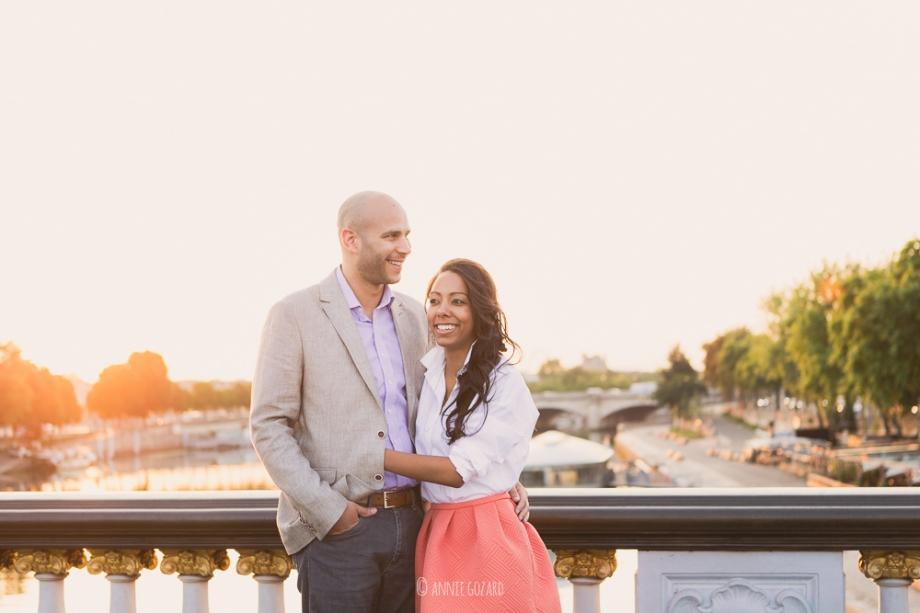 pre wedding session on the bridge in paris france